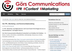 Görs Communications – der PR-, Marketing- und Kommunikationsblog